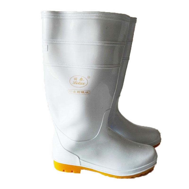 丽泰白色高腰单食品雨靴45