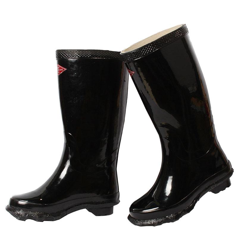 踏雪工矿长筒雨靴36