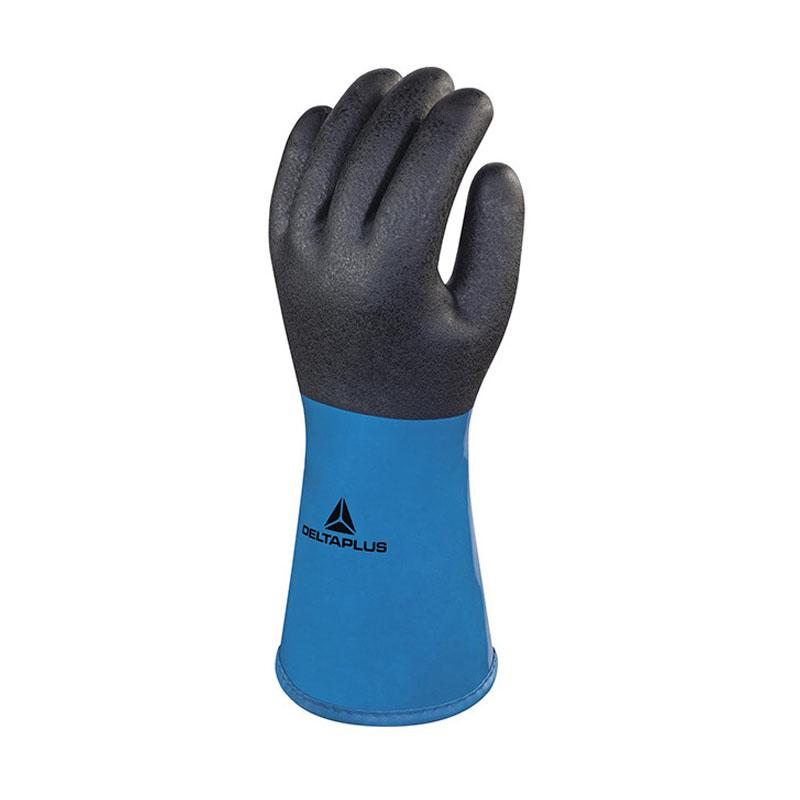 代尔塔 201837-9VV837 PVC/丁腈双涂层防化保暖手套
