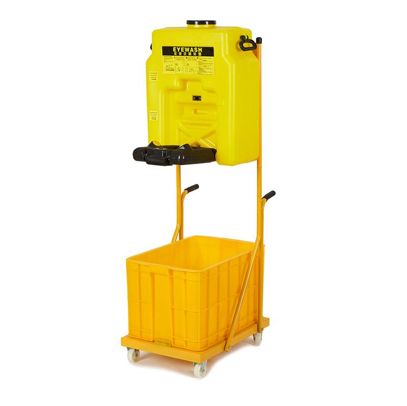 鹰兽6650移动式53L便携式大容积储水桶式免管路安装紧急洗眼器