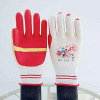 牛郎星NL-198白纱红胶胶片手套