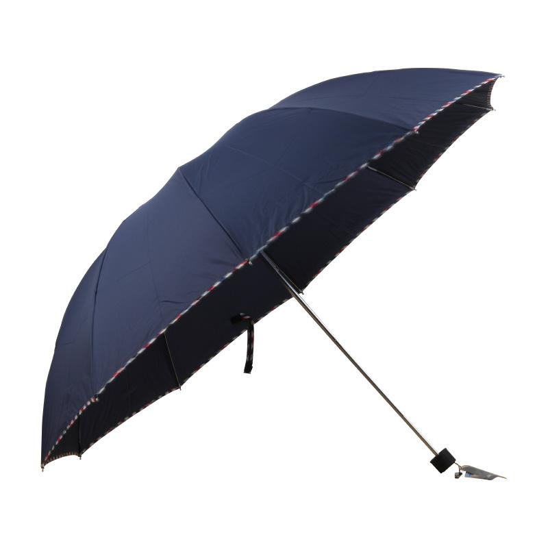天堂3311E蓝色碰击布三折晴雨伞