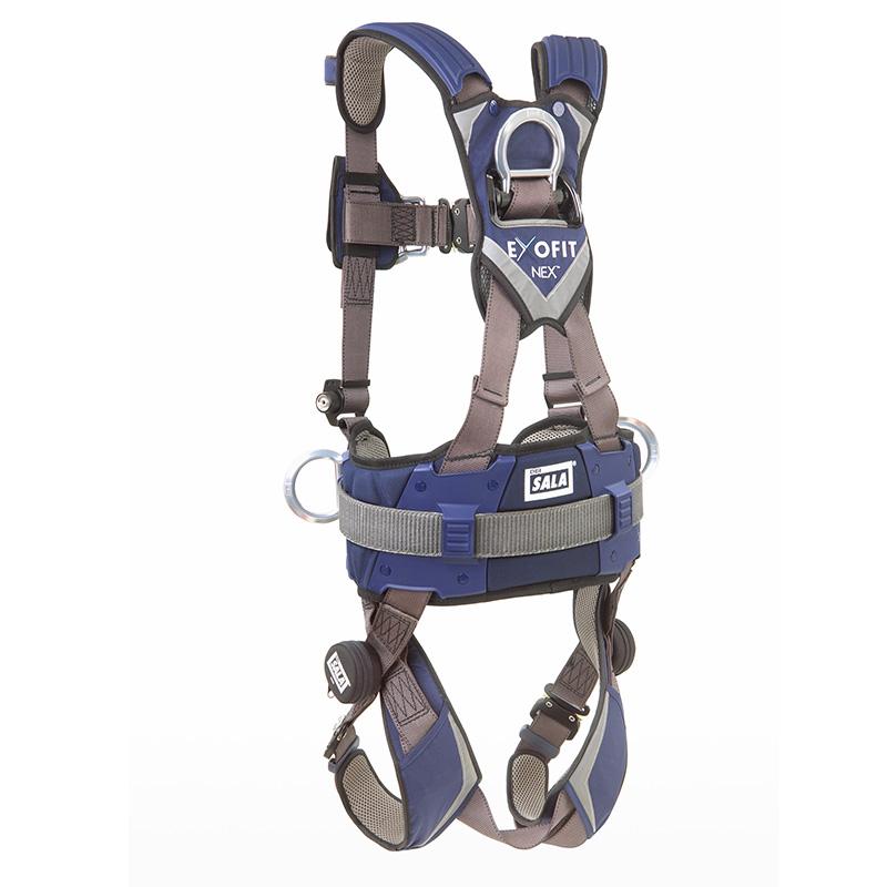 3M凯比特 1113150 SALA索拿带腰带六点可调节背部前胸腰两侧带D型环快插式带扣配自救脚带 特小号安全带