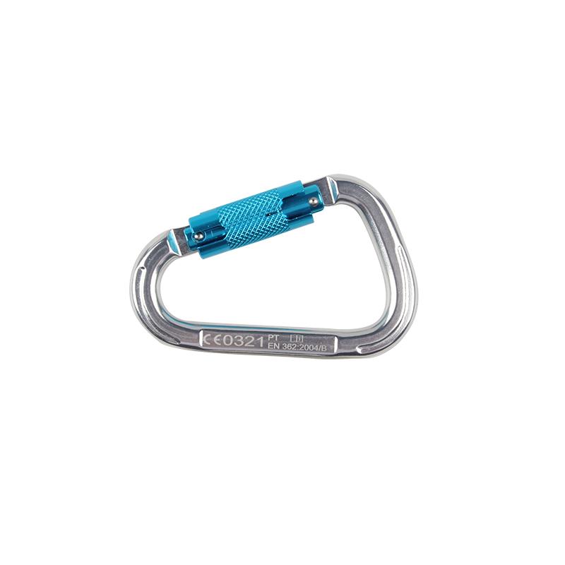 代尔塔508025铝制自锁D型钩22mm