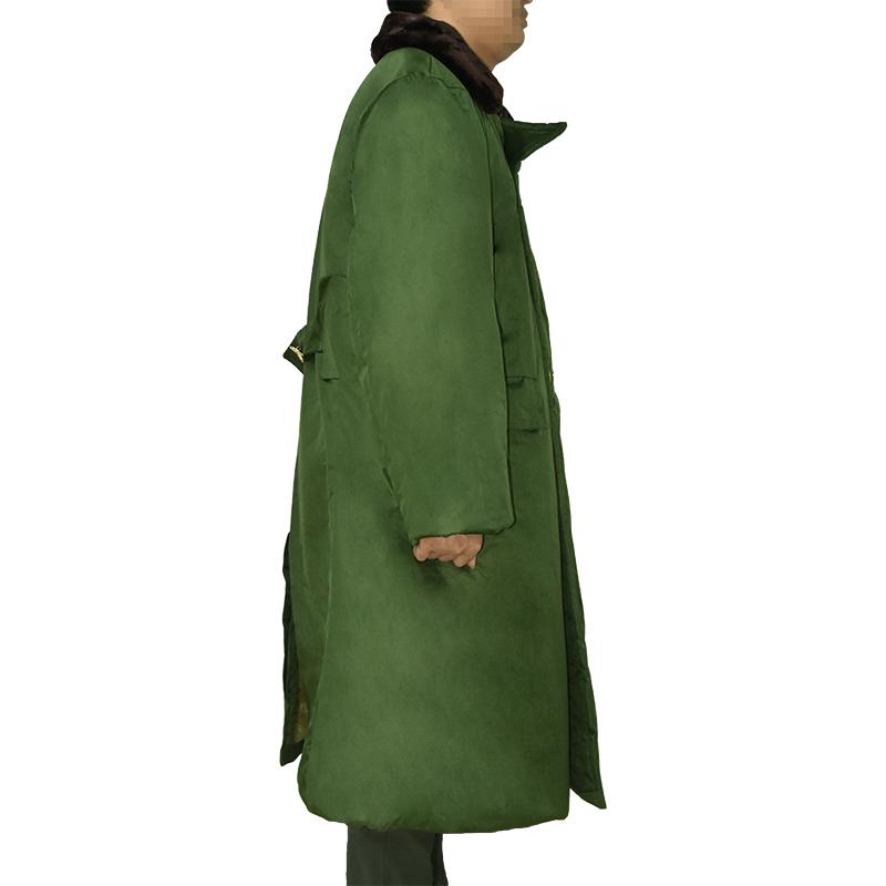 防水毛绒长棉大衣