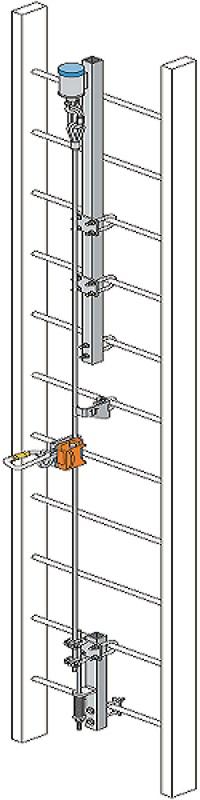 霍尼韦尔VGS/15M Vi-Go镀锌钢钢缆爬梯系统