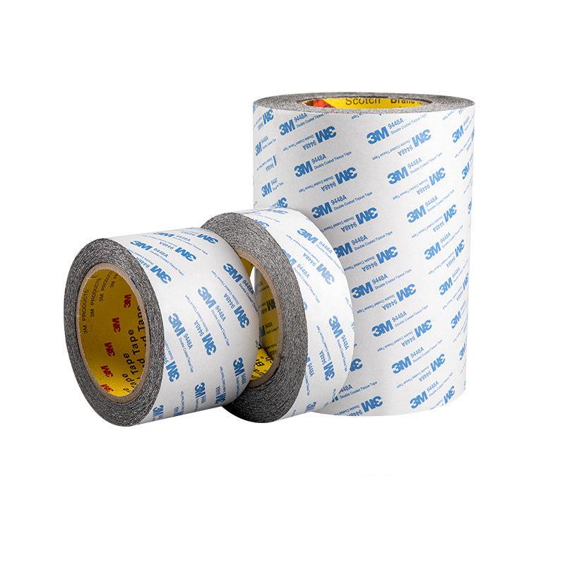 3M 9448AB 双面棉纸胶带-20mm*50m