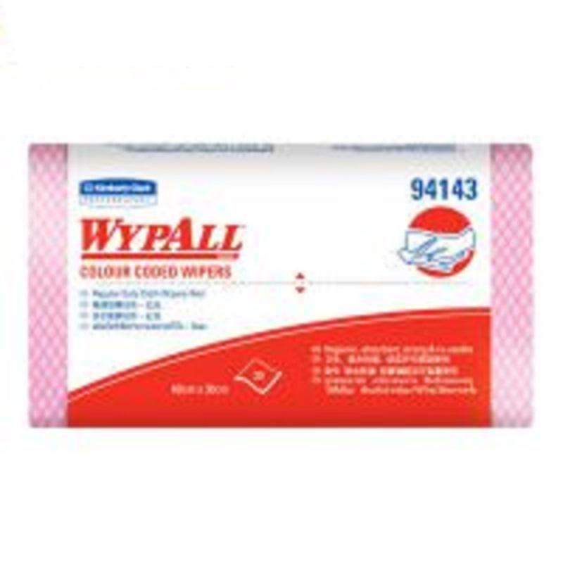 金佰利94143 WYPALL*劲拭*彩色清洁擦拭布(标准型)红色