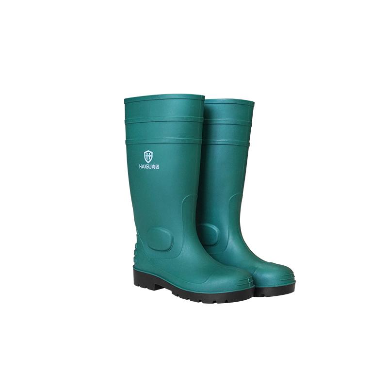 海固HG-FHX04绿黑单钢一级防化靴