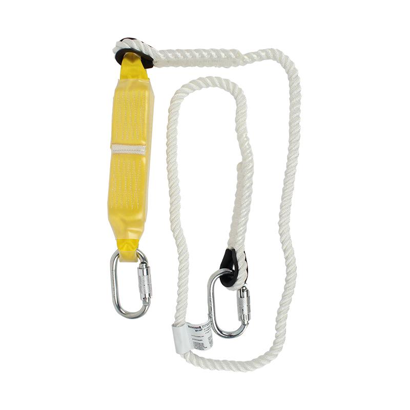 霍尼韦尔DL-60单叉缓冲系绳 绳直径12毫米 配2个安全钩 2米