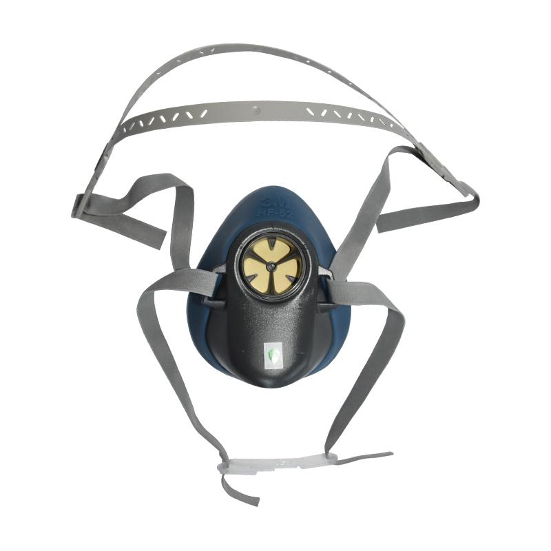 3M HF-52硅胶半面型防护面罩(中/大号)(可接1700或者3700承接座)