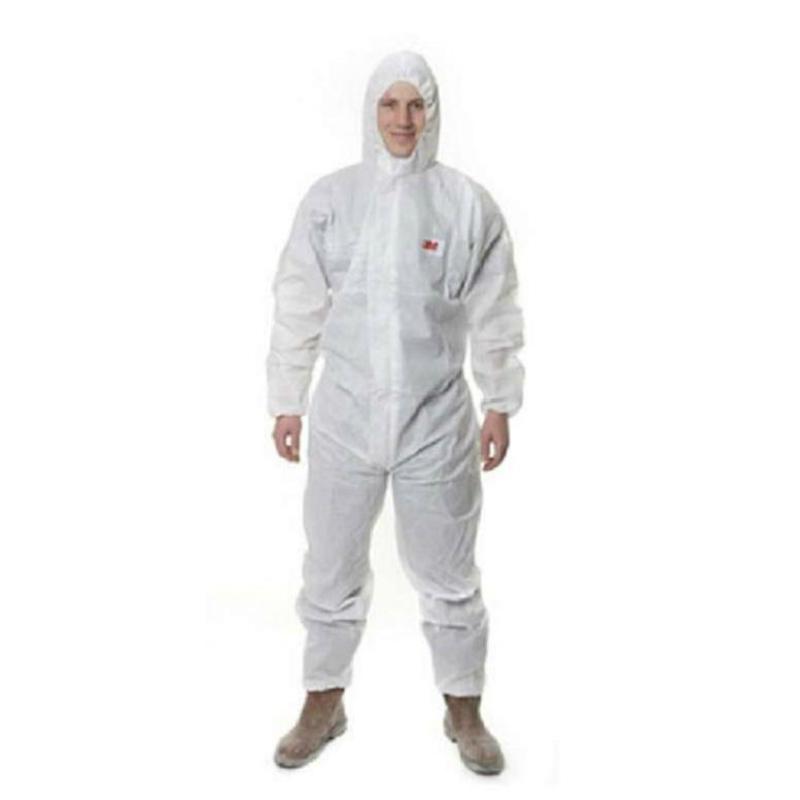 3M 4545白色带帽连体防护服