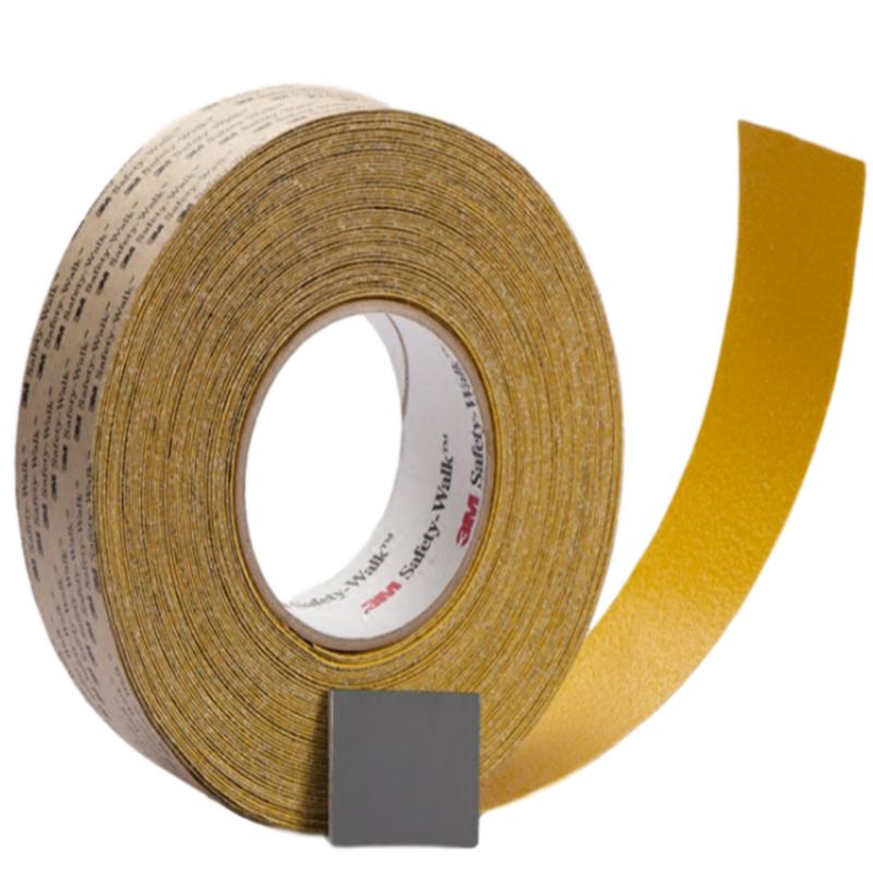 3M 530凹凸平面用安全防滑贴黄色 2英寸*60英尺