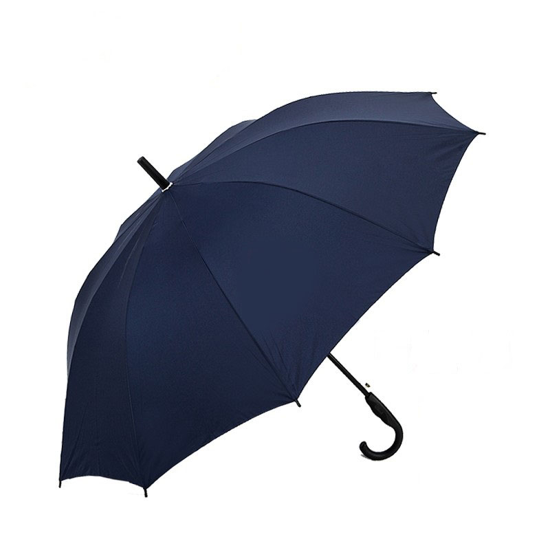 天堂伞193E碰直杆弯柄纯色雨伞