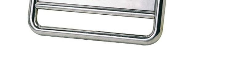 力畅 0.8mm厚 弯腿 不锈钢停车牌