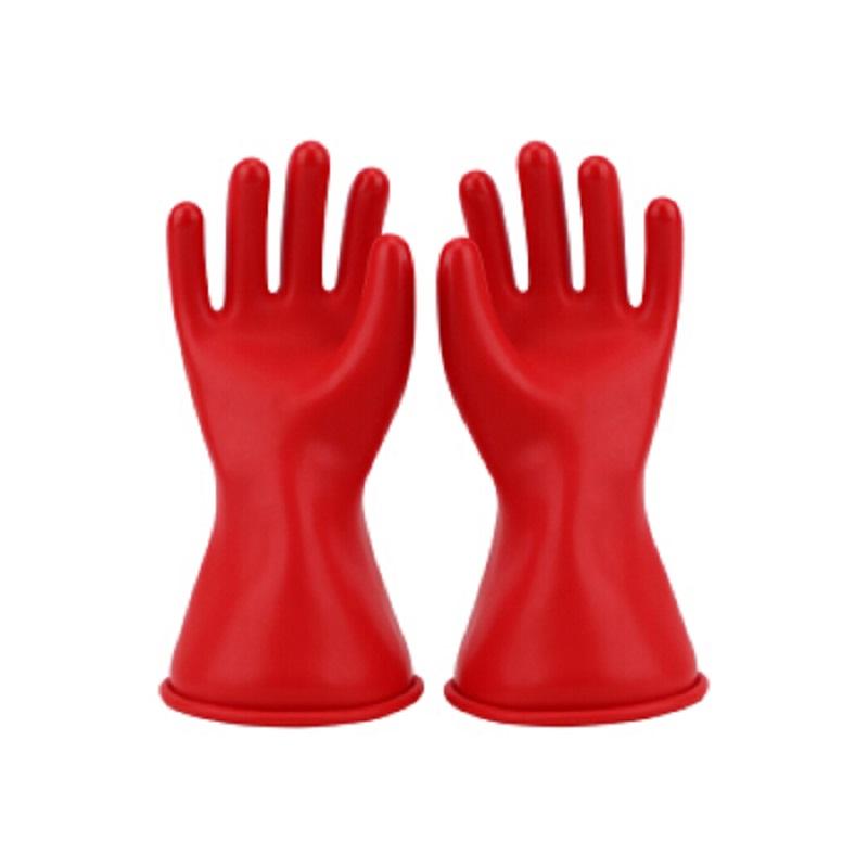 双安0级11英寸乳胶带电作业用绝缘手套