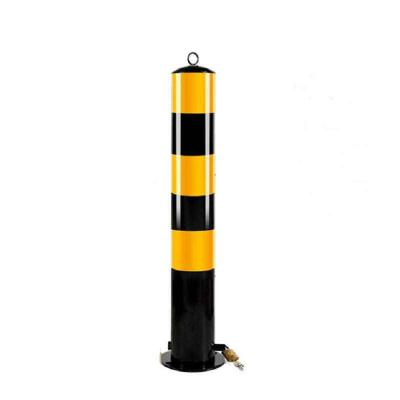 力畅 70cm黑黄反光铁立柱