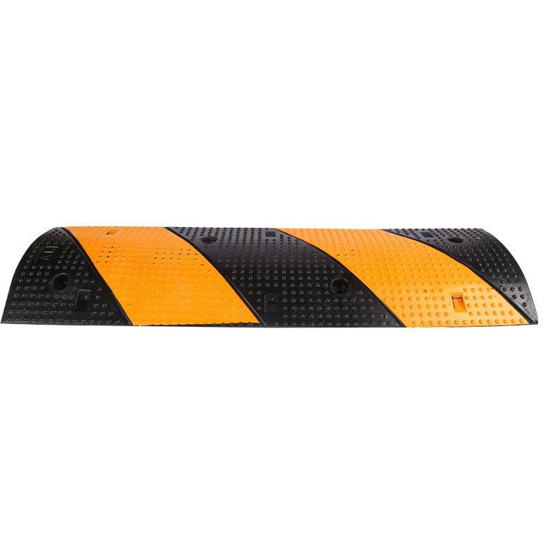 力畅100x30x5cm优质橡胶波点斜纹减速带