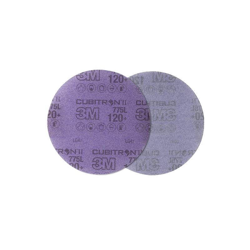 3M 775L 320#无孔抛光砂轮片背绒砂碟片125mm