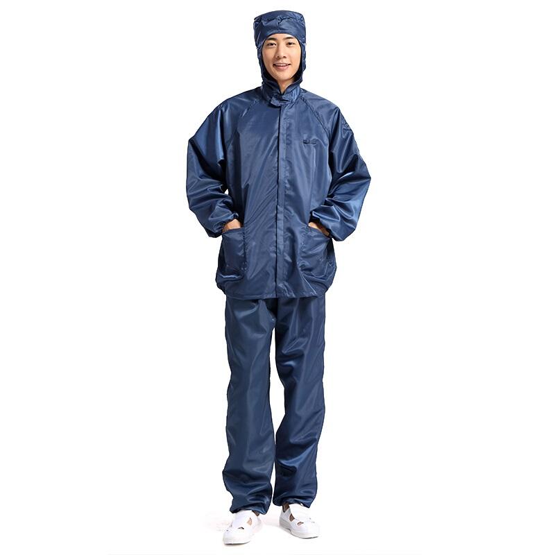 星工 XGJ-2 分体静电服 带帽连帽防尘衣 藏蓝色