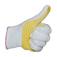 SAFEMAN君御71008D 800克尼龙黄点塑手套