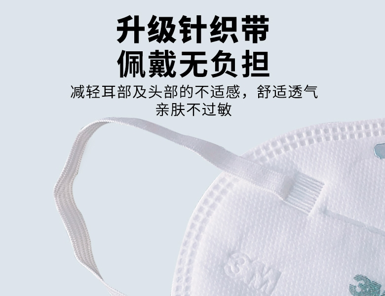 3M 9501+耳戴式自吸过滤式防颗粒物呼吸器KN95(环保包装)(货号XY003866874)