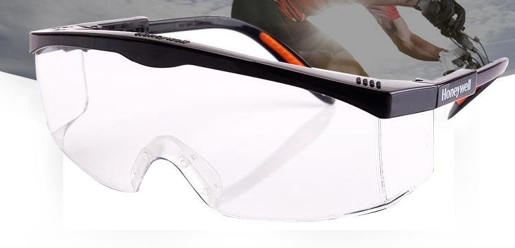 Honeywell霍尼韦尔100110 S200A防雾防刮擦防护眼镜(黑架)
