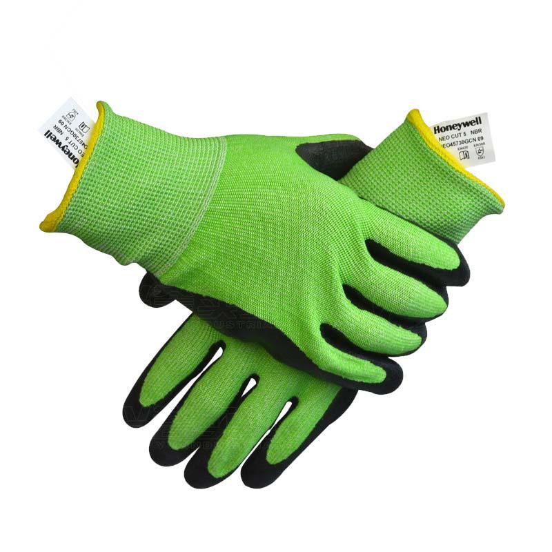 Honeywell霍尼韦尔NEO45740GCN NEOCUT经济款掌部乳胶涂层HPPE5级防割手套