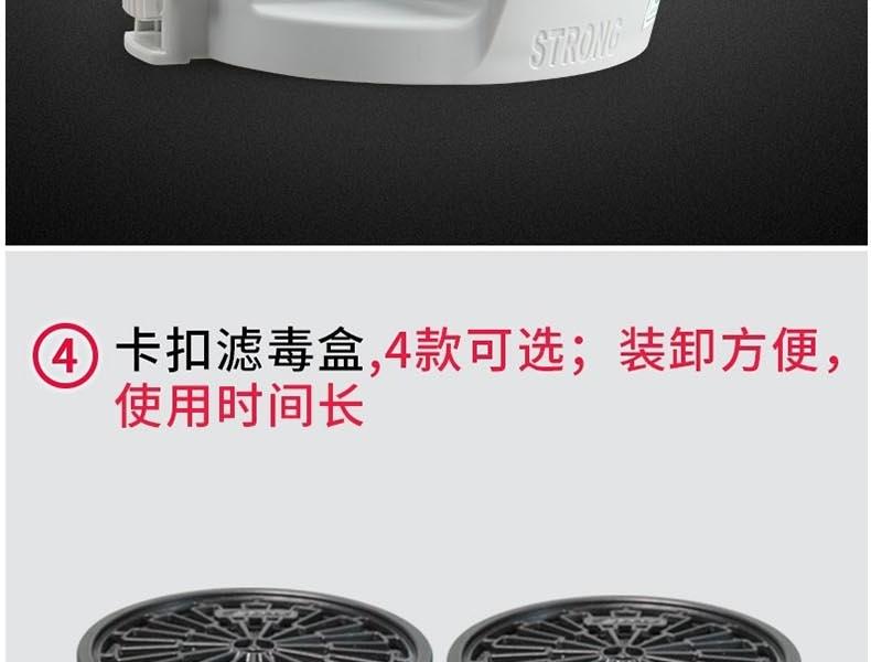 思创ST-FDX 橡胶防毒面罩(带3号滤盒)