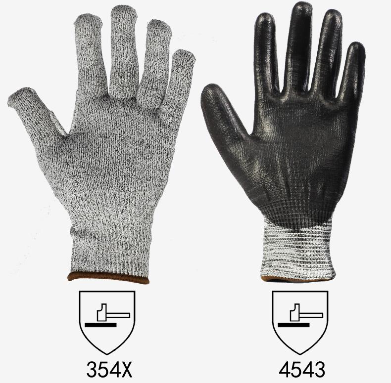 Ansell安思尔 48705玻璃纤维PU涂层5级防割手套 9号(升级为48705)-9