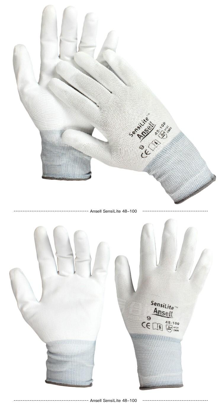 Ansell安思尔 48-100-8 PU涂层精细操作手套
