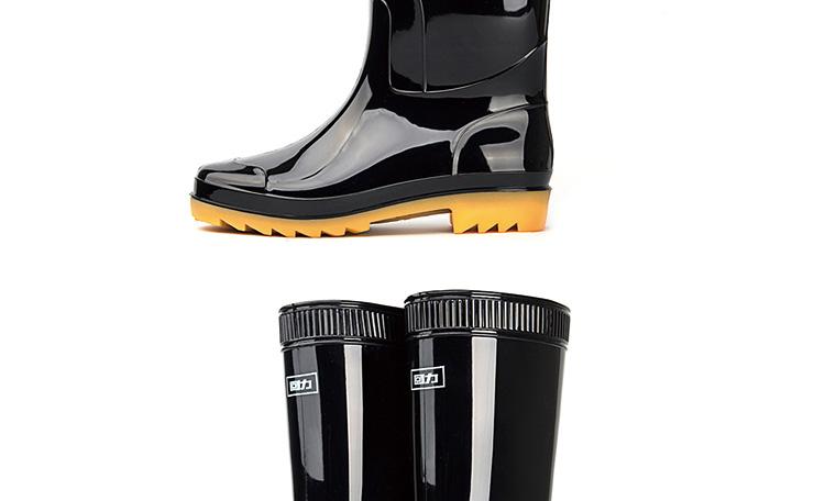 回力807高筒黑色雨靴 41