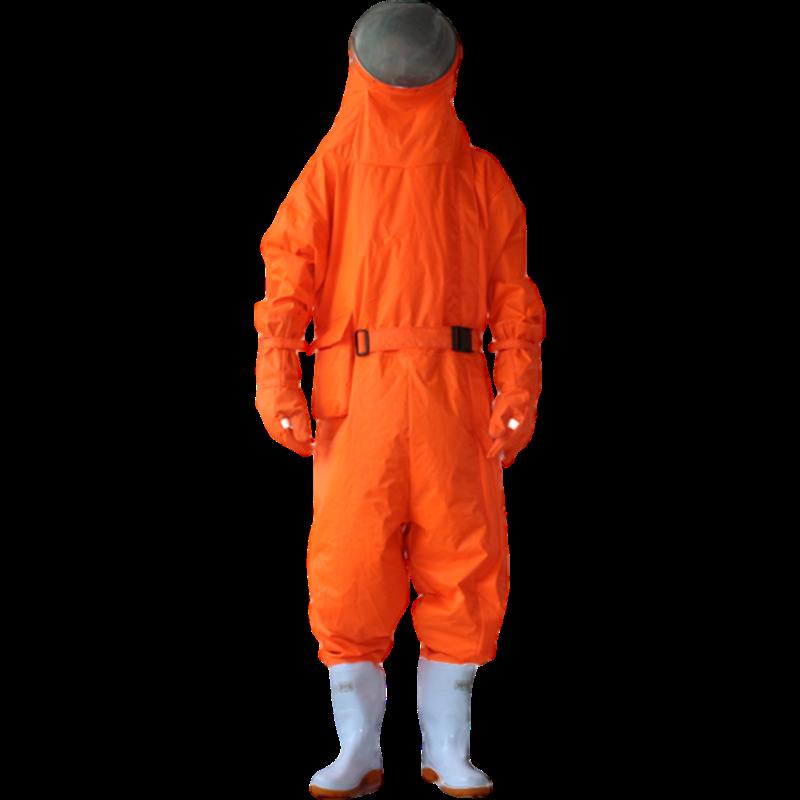 美康MKF-09-4A一代桔红色防蜂服