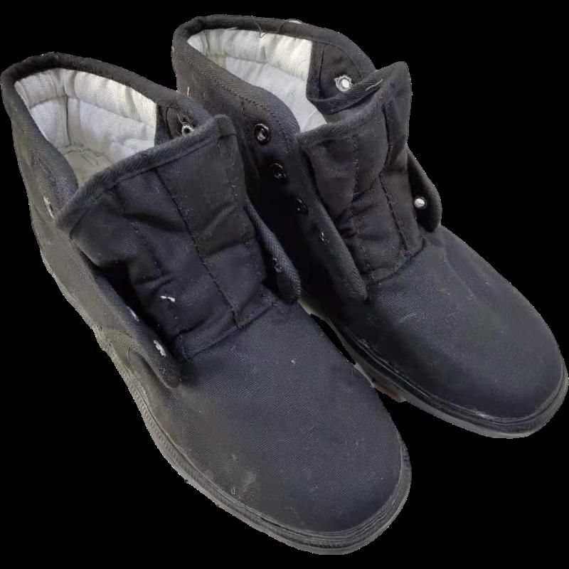 百劳汇3520高帮黑色作训棉鞋