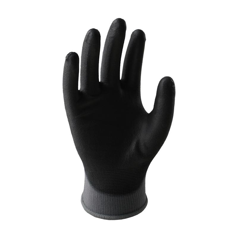 赛立特 N10556ET 13针涤纶触屏防静电PU手套 黑色