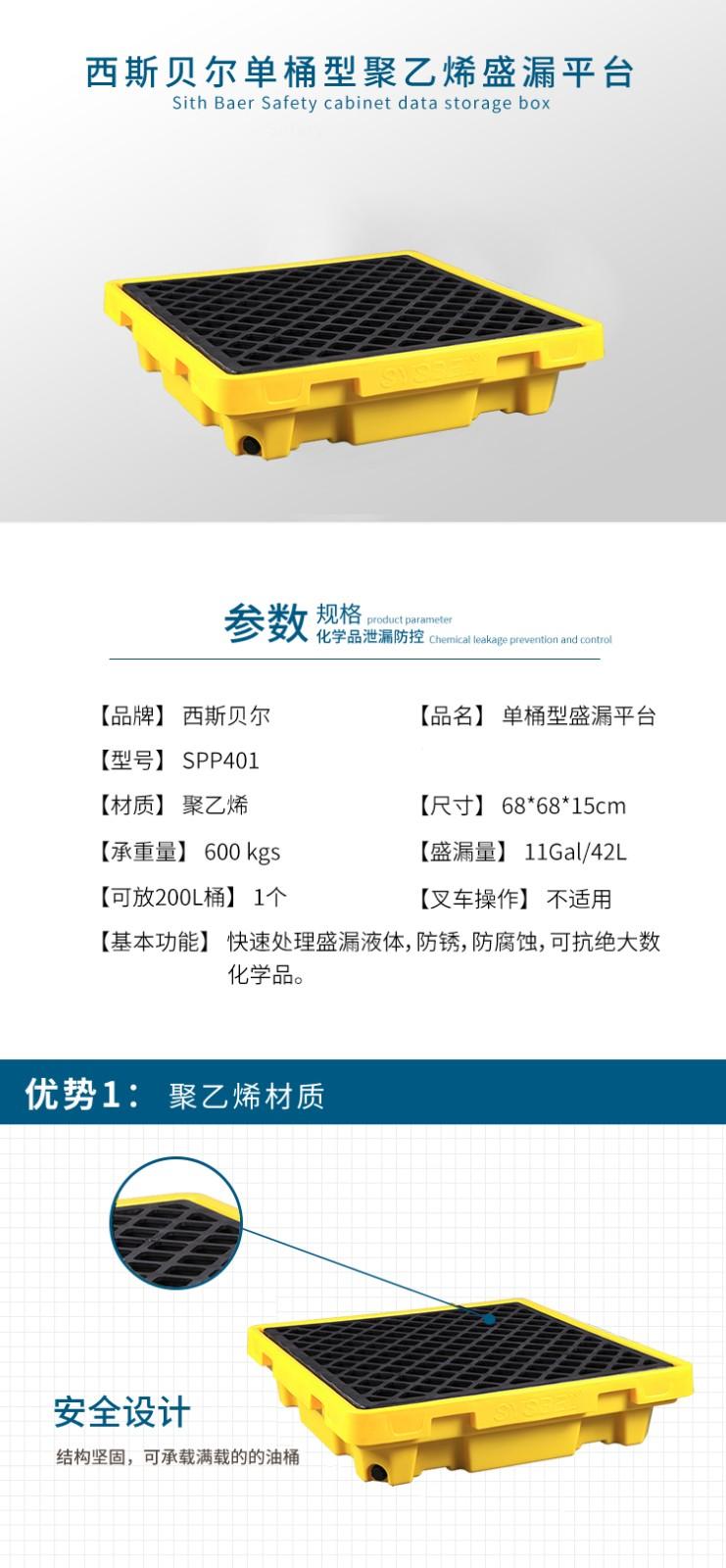 SYSBEL/西斯贝尔 SPP401 聚乙烯盛漏平台