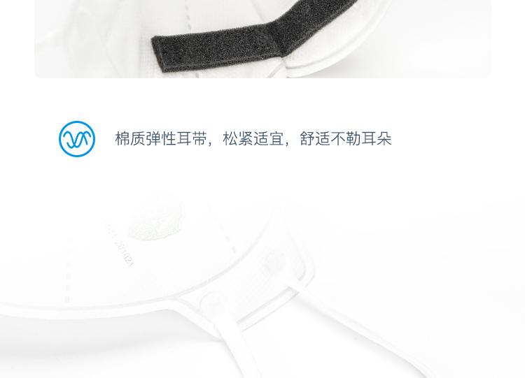 Honeywell霍尼韦尔H1005591 H901 KN95耳带式折叠式口罩