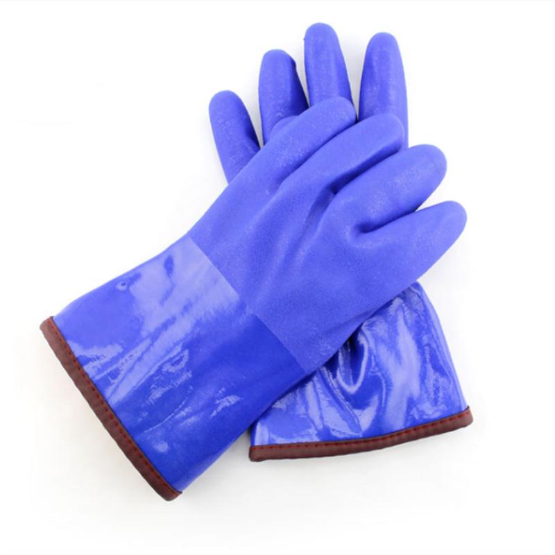 东亚 918 耐低温(A11防寒)开司米绒耐油保暖手套 蓝色