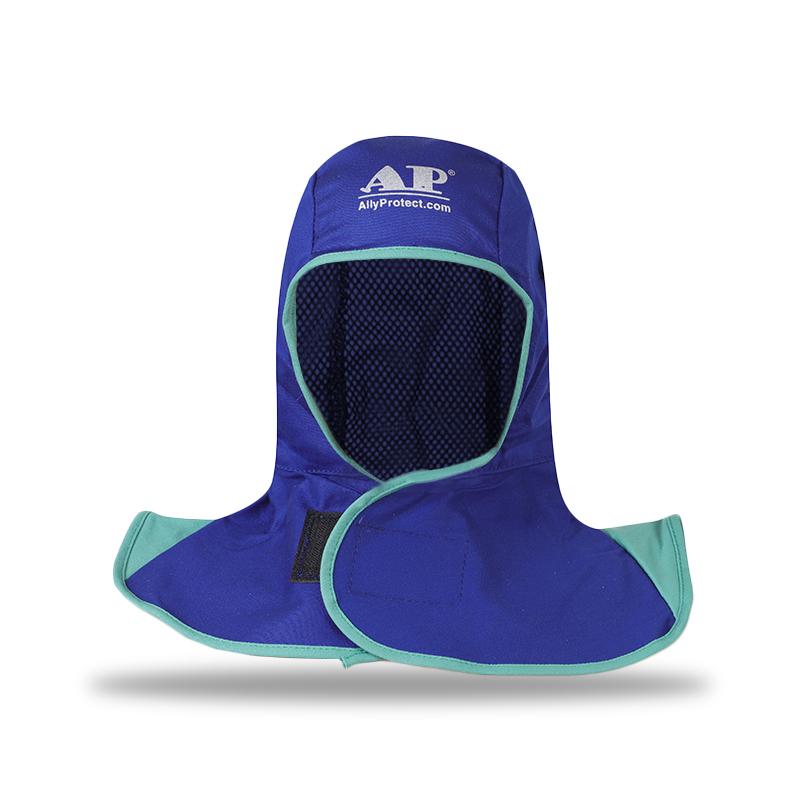友盟AP-6670蓝色阻燃布全护式焊帽