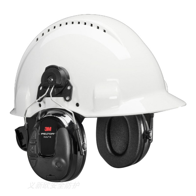 3M PELTOR Protac III MT13H220P3E黑色挂安全帽式 普通降噪 环境声音耳罩