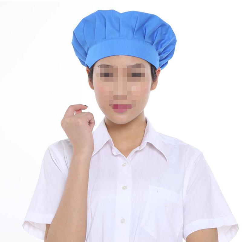 轩延 食品卫生帽蓝色全布松紧款