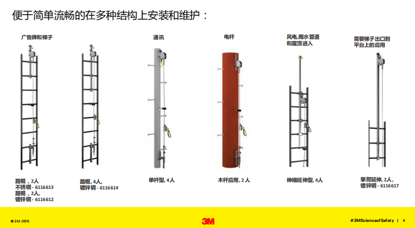 3M 凯比特6118040 爬梯生命线12米