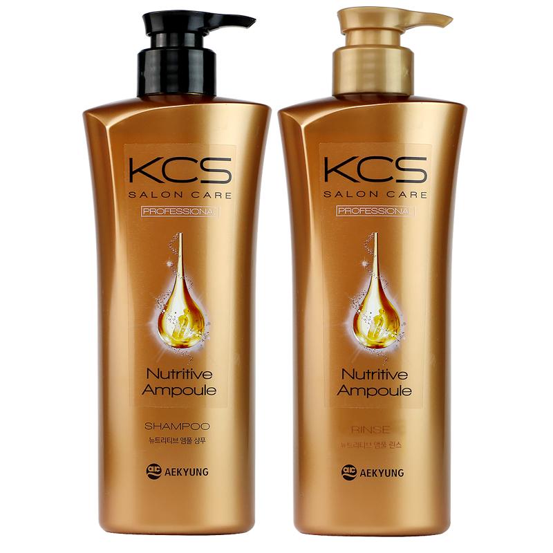 爱敬 洗发水护发素套装沙龙深层滋养通用金色1套(600ml*2 )