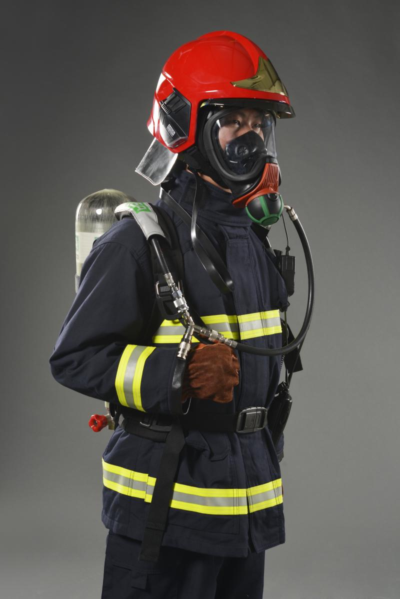 MSA/梅思安 10158942 F1XF基础款消防头盔 红色 大号