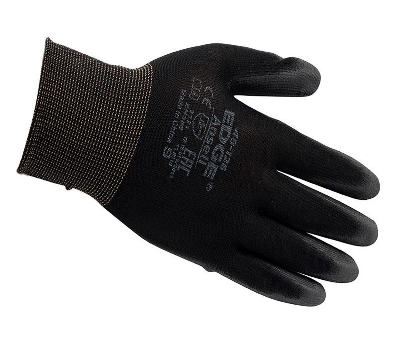 Ansell安思尔 48126090涤纶PU掌部涂层黑色手套